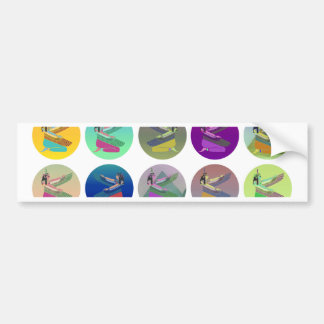 Egyptial Goddess Isis Pyramid Collage Car Bumper Sticker