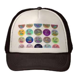 Egyptial Goddess Isis Pyramid Collage Trucker Hat