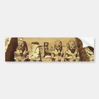 Egyptian Abu Simbel temples Car Bumper Sticker