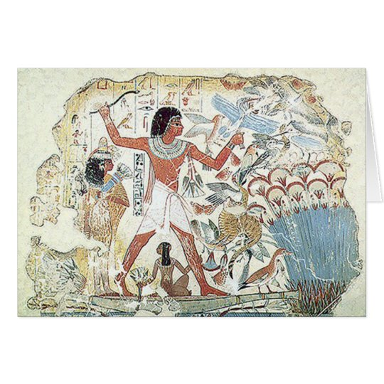 egyptian / african hunting scene tablet freeze card