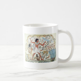 egyptian / african hunting scene tablet freeze coffee mug