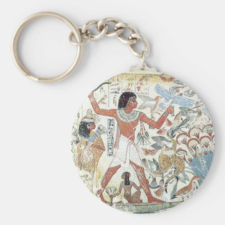egyptian / african hunting scene tablet freeze keychain