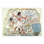egyptian / african hunting scene tablet freeze postcard