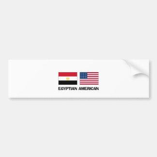 Egyptian American Car Bumper Sticker