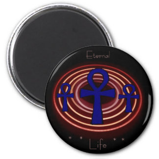 Egyptian ANKH - Eternal Life 2 Inch Round Magnet