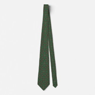 Egyptian arabic geometric pattern in brown green tie