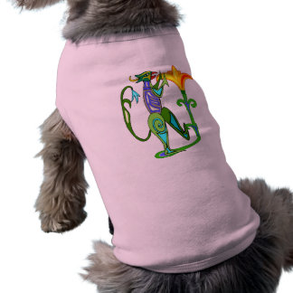 Egyptian Art Deco With A Lotus Flower Dog Shirt