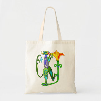Egyptian Art Deco With A Lotus Flower Tote Bag