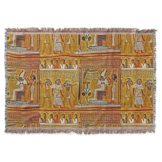 Egyptian Art Throw Blanket