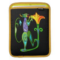 Egyptian Art With Lotus Flower iPad Sleeve