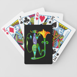 Egyptian Art With Lotus Flower Playing Cards