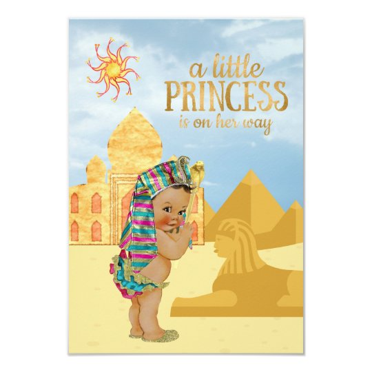 Egyptian Baby Shower Invitation Egyptian Princess