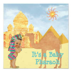 Egyptian invitations zazzle egyptian baby shower invitation with vintage baby filmwisefo