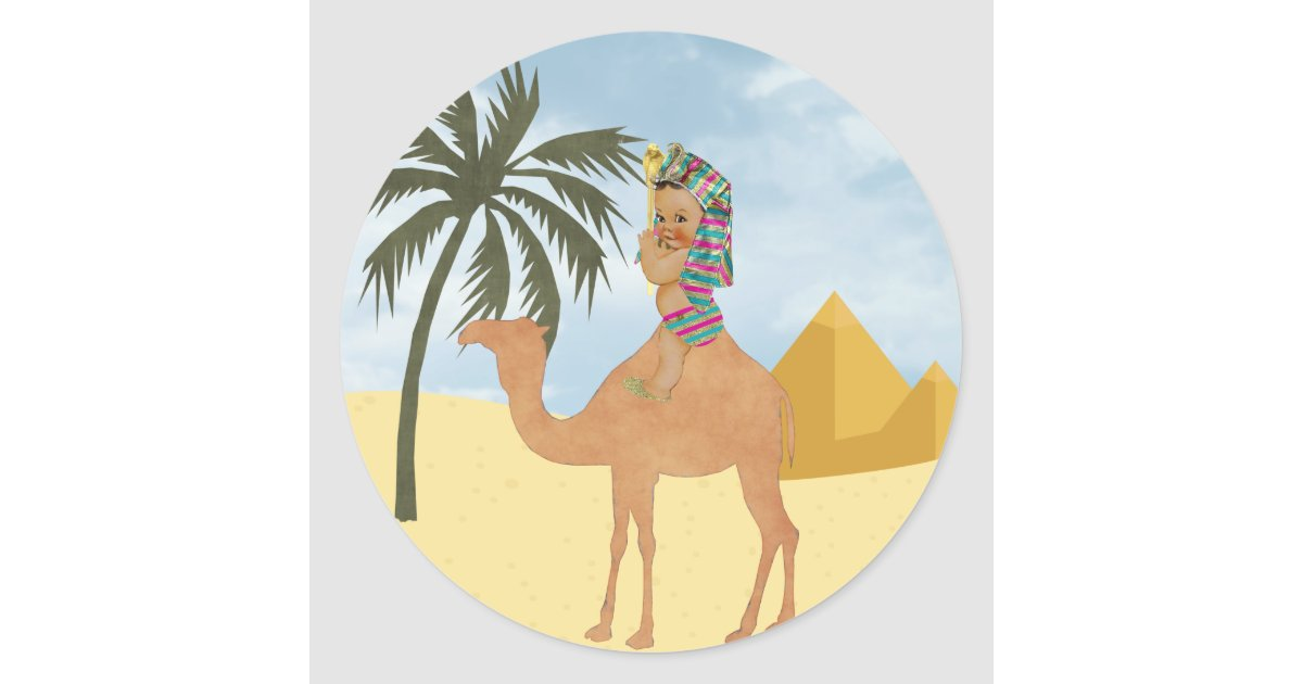 egyptian baby shower sticker with vintage baby zazzle