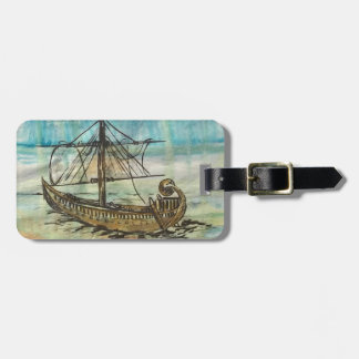Egyptian Barque of the Sun Luggage Tag