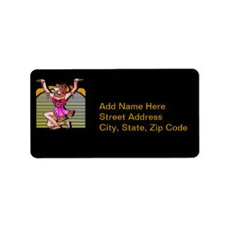 Egyptian Belly Dancer Custom Address Label