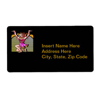 Egyptian Belly Dancer Personalized Shipping Label