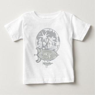 Egyptian Blimp and Moon Tee Shirt
