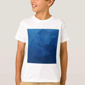 Egyptian Blue Abstract Low Polygon Background T-Shirt
