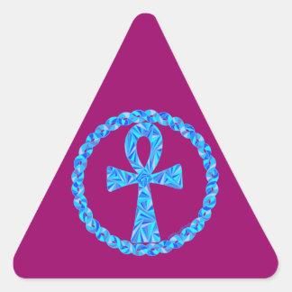Egyptian Blue Ankh Mystical New Age Art Stickers
