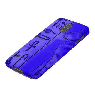 Egyptian Blue Sapphire Anubis Pharoah Airbrush Art Galaxy S5 Covers