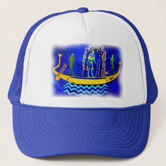 Egyptian Boat/ Barge (in oil 2) Trucker Hat