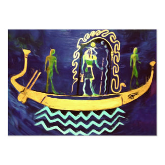 Egyptian Boat/ Barge (in oil) Card