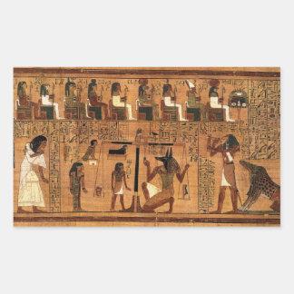 Egyptian books of the dead. rectangular sticker