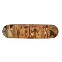 Egyptian books of the dead. skateboard deck