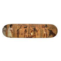 Egyptian books of the dead. skateboard deck
