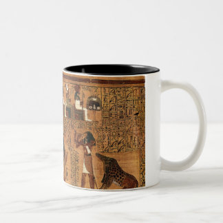 Egyptian books of the dead. Two-Tone coffee mug