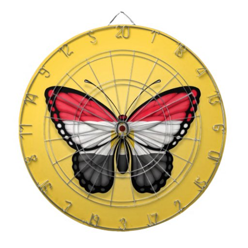 Egyptian Butterfly Flag on Yellow Dartboards