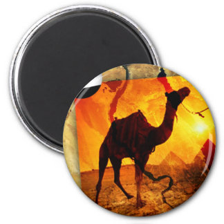 Egyptian camel 2 inch round magnet