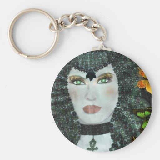 Egyptian carry-key basic round button keychain