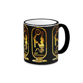 Egyptian cartouch ringer coffee mug