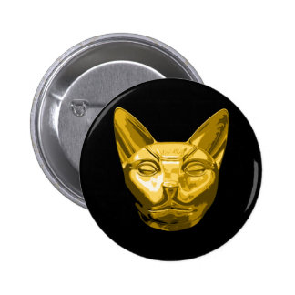 Egyptian Cat Bast Button