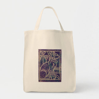 Egyptian Cat Design Grocery Tote Bag