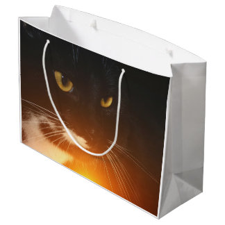 Egyptian Cat God Large Gift Bag