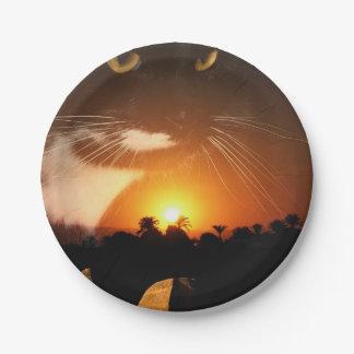 Egyptian Cat God Paper Plate