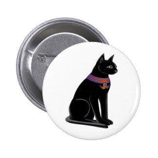 Egyptian Cat Goddess Bastet 2 Inch Round Button