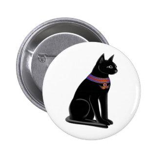 Egyptian Cat Goddess Bastet Button