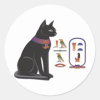 Egyptian Cat Goddess Bastet Classic Round Sticker