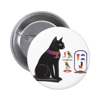 Egyptian Cat Goddess Bastet Pinback Button