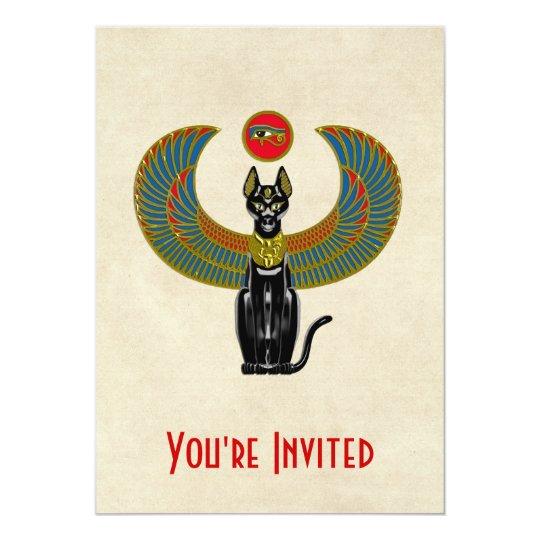 Egyptian Cat Goddess Card