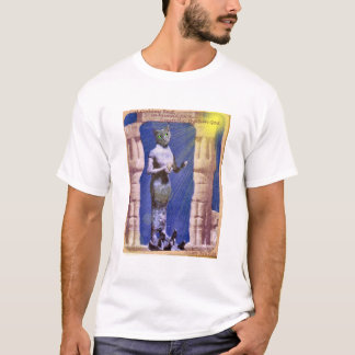 Egyptian Cat Goddess greets Ra, the Sun God T-Shirt