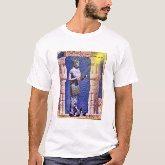 Egyptian Cat Goddess greets Ra, the Sun God T-Shirt