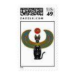Egyptian Cat Goddess Postage Stamps