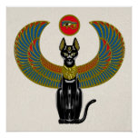 Egyptian Cat Goddess Poster