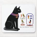 Egyptian Cat Hieroglyphic Mousepad