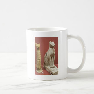 Egyptian Cat Statue and Mummified Cat Coffee Mug